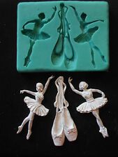 Silicone Mould BALLET Sugarcraft Cake Decorating Fondant / fimo mold