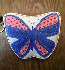 RELIC Caraway Collection Coin Purse & Key Chain BUTTERFLY  New!