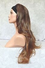 Long Brown Slight Waves Synthetic HEADBAND Wig - 11A