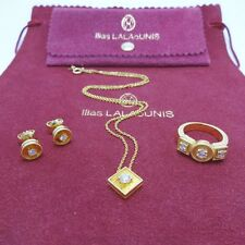 Ilias Lalaounis Diamond 18K Ring Necklace and Earrings Set