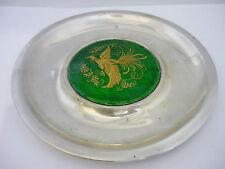 Stunning & Unusual Art Nouveau Style Spanish Hallmarked Silver & Enamel Dish