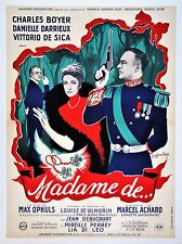 MADAME DE * (Entoilée 60 x 80 cm)  Max OPHULS * Danielle DARRIEUX * 1953