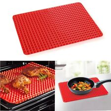 Silicone Pyramid Pan Non Stick Fat Reducing Oven Baking Tray Sheet Cooking Mat