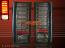 2003-2009 HUMMER H2 SUV SMOKE LED TAIL LIGHTS REAR BRAKE LAMPS 04 05 06 07 08
