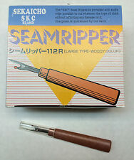 5 pcs Heavy Duty New Flat Handle For  Seam Ripper 112R  Japan made woody handle