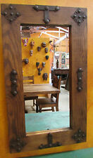Jalisco Mirror-Clavos-Reclaimed Old Wood-Mexican-20x34-Western-Rustic-NEW