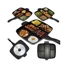 Non Stick Pan Cookware Divided Meal Skillet Grill Fry Oven Dishwasher Safe 15''