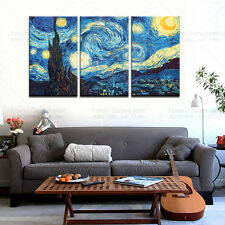 Starry Night by Vincent Van Gogh Oil Painting Printed On Canvas Wall Decor Art