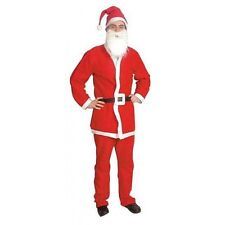 Santa 5 Piece Suit Costume, Christmas Fancy Dress G81001