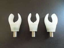 3 x Flexi Rubber Cup Rod butt rests. Coarse/carp/Pike fishing. Glow in the Dark