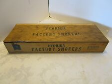 """FLORIDA Wood CIGAR BOX Factory Smokers 5¢ For 2 CIGARS! 1930s-40's 16 3/4""""W. VTG"""