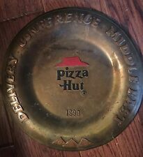 Vintage Pizza Hut Restaurant Delivery Conference  Plate Middle East 1990