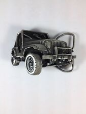 """Jeep Solid Brass Belt Buckle Made In 1978 """"Hard To Find"""""""