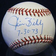 Jim Bibby d.2010 1973 NH Inscription JSA Autographed Baseball Cardinals Pirates