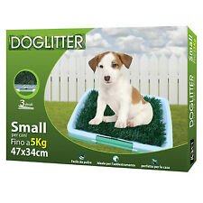 LETTIERA PER CUCCIOLI CANI CANE POTTY TRAINER TOILETTE ERBA SINTETICA WC DOG