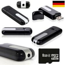 USB Stick Neu Mini Kamera Cam Video Camera HD Bewegungsmelder 8 GB Karte GratisN