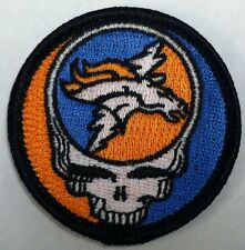 Grateful Dead Steal Your Face Denver Broncos embroidered sew on patch