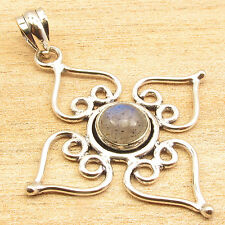 Free Shipping on Additional Items! Silver Plated Labradorite Pendant ART GIFT