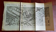 1873 Vienna Exposition Map Grounds Shops Different Departments