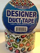 1 Roll of Rainbow Leopard Print Duct tape Wild GreT For Pride Roses Designer!!