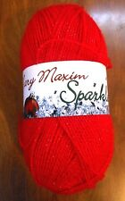 Mary Maxim Sparkle Red Yarn Acrylic Soft Great Christmas Red