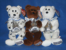 TY HERSHEY SET - KISSES, HUGSY & COCOA BEAN - EXCL MINT TAGS