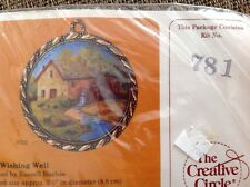 Creative Circle Embroidery Kit, Mill Stream #781, Water Mill Ornament, Frame