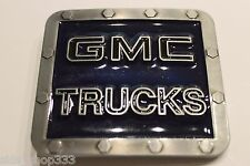 GMC TRUCKS metal Belt Buckle Dark Blue Brushed steel Color gift NASCAR RACING