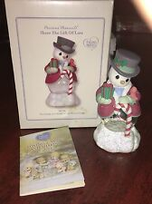 PRECIOUS MOMENTS Snowman and Bird Water Globe NEW In Box Christmas Decor