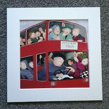 "BERYL COOK""MYSTERY TOUR"" MOUNTED CARD  8 X 8 FUNNY"