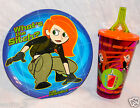 NEW KIM POSSIBLE DINNERWARE PLATE AND TUMBLER CUP STRAW