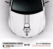 "35"" STORMTROOPER HELMET Dark Side Star Wars Hood Stripes Car Vinyl Sticker Decal"