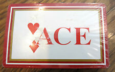 """""""Ace"""" Heart Diamond Red And Gold Sealed Playing Deck Of Cards"""