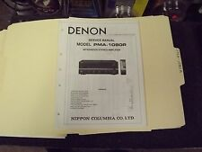 Denon PMA-1080R Service Manual - Factory Original