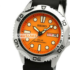 SEIKO PROSPEX SOLAR DIVERS MENS WATCH 200M SNE109P1 FREE EXPRESS ORANGE SNE109
