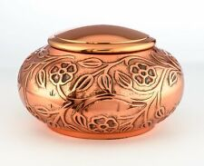 ADULT COPPER CREMATION URNS, LARGE NEW FUNERAL URN FOR HUMAN ASHES- pet urn