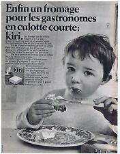 PUBLICITE ADVERTISING 104 1968 KIRI Pour les gastronomes fromage