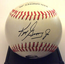 KEN GRIFFEY JR. MARINERS / Reds Facsimile Signed Autographed PHOTO Stat Baseball
