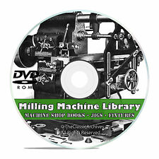 Milling Machine Operation DVD Shop Practice Jigs Fixtures Machinist Guide A+ V45