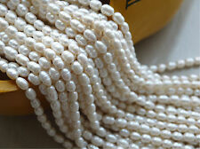 """Natural 5-6mm Bullet Freshwater Pearl Jewelry Making loose gemstone beads 14"""""""