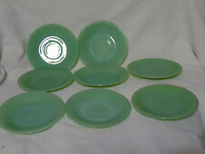 8 FIRE KING ANCHOR HOCKING JADITE JADEITE JANE RAY SAUCERS AS IS