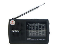 DEGEN DE321 Pocket FM Stereo Radio FM MW SW Radio DSP World Band Receiver CO