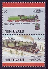TUVALU NUI LOCO 100 SUR CLASS SU LOCOMOTIVE USSR STAMPS MNH