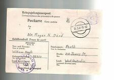 1942 Germany Stalag 7 A Prisoner of War POW Postcard Cover to Australia W Nagle