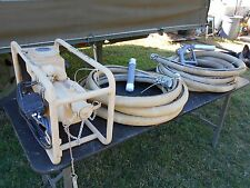 MILITARY SURPLUS SCOT FUEL TRANSFER PUMP  HOSES NOZZLE FILTER TRUCK TRAILER ARMY