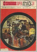 SUPER ATTACK 3+1 - N° 43 - settembre   1969 -FUMETTO GUERRA WAR--GU3