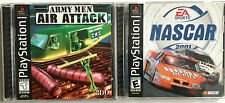 TWO VINTAGE PLAYSTATION ONE GAMES ~ NASCAR 2001 & ARMY MEN AIR ATTACK ~ COMPLETE