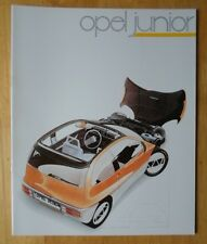 OPEL Junior rare Concept Car prestige brochure - c1982 - Vauxhall Nova interest