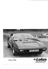 "LOTUS ELITE PRESS PHOTO 'P' REGISTERED ""BROCHURE RELATED"""