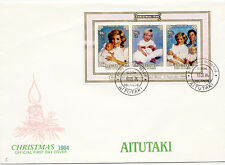 Aitutaki 1984 #367 Souvenir Sheet First Day Cover FDC Christmas Children Surtax